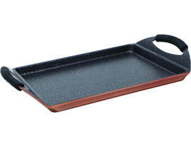 GRILL PLATE 30X23CM  CAST ALU IND INFINITY CHEF BG